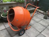 Belle style concrete mixer with stand very good condition used twice
