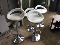 Four Elixir Barstool's - White for sale