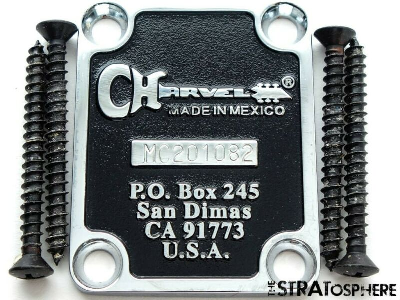 Charvel San Dimas NECK PLATE Ser # So-Cal Black Guitar Parts Serial #