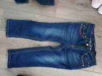 Girls age 14 cropped jeans