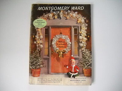 1963 Vintage Montgomery Ward Christmas Book Catalog Toys Games Holiday Wish List on Rummage