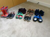 Bundle of shoes 5 - 6/7 including Clark and wellies