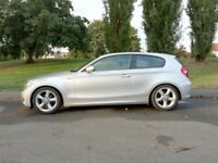 BMW 1 Series - 120i 2 Litre in silver - 3 door, 6 speed manual - LOW MILEAGE