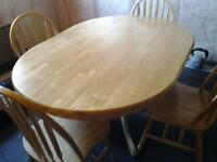 hardwood kitchen table set with chairs