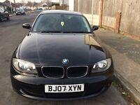BMW 1 Series Black 2007 65k £3750