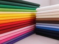 Job Lot 30x 100% Cotton Fabric Sheeting Plain Solid Colours