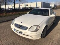Mercedes SLK 200 Kompressor - White 2D Convertible with Manual Gearbox with service history