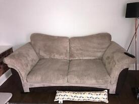 3 & e seater sofa