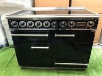 Stunning Falcon 1092 Deluxe Induction range cooker Double oven Black and chrome