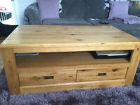 Next solid oak coffee table