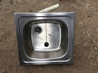 """Small stainless sink 18"""" x 17"""""""