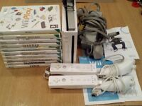 Nintendo Wii Console with 2 Remotes, 2 Controllers and 10 Games - (Location Worsley)