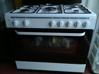 White Duel fuel cooker large cooker grill five burners natural gas or lpg