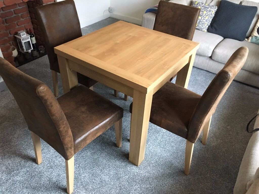 Next 'Malvern' 4-6 Seater Dining Table & 4 Chairs - LIKE NEW