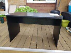 Black Rectangular Panel End Desk