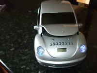 Sports car CD Micro System, CD Player with FM radio. Built in speakers, Lift - up bonnet.