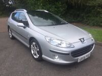 PEUGEOT 407 SW 2.0 HDI SE 06 REG IN SILVER WITH BLACK TRIM ONLY 95400 MILES, SERVICE HISTORY