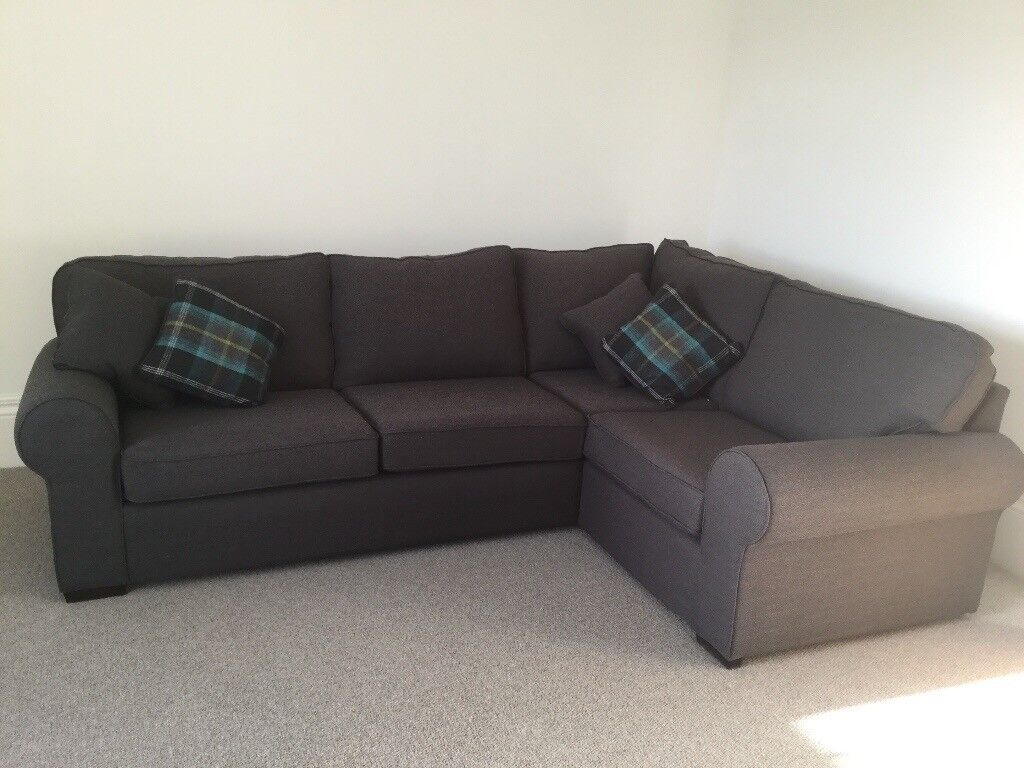Dark Grey Corner Sofa Excellent Condition Like New In
