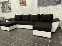 Beautiful U shape corner sofa bed