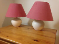 Table Lamps for Bedside cabinet.