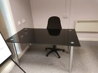 x2 glass office desks