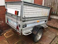 TRAILER CAMEL WITH HIGH SIDED FRAME.
