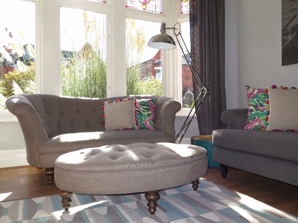 John Lewis Living Room Mist Grey John Lewis Hayworth Chesterfield Sofa Footstool In