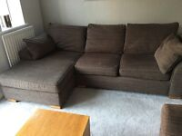 NEXT 3 seater 'L' shape and 2 seater sofas