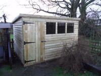 10 x 8 garden pent shed