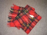 Mens Scarf Red Mix Heather Brae Moxair Scotland Used