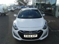 2012 62 HYUNDAI I30 1.6 ACTIVE BLUE DRIVE CRDI 5D 109 BHP **** GUARANTEED FINANCE **** P/EX WELCOME