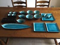 Oriental Stoneware Dining Set