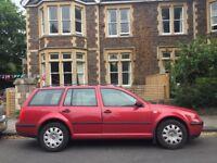 VW Golf Estate 2001, 1 year MOT (July 2019)