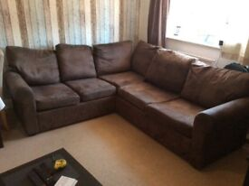 Large brown corner sofa (used)