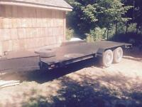 Flatbed 18' trailer with back gate