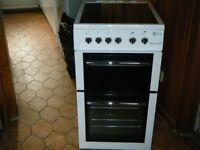 Flavel E50 ceramic hob with seperate grill and fan oven free standing cooker