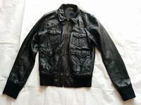 Real leather bomber style jacket
