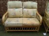 Three piece garden furniture set 2 chairs 1 two seater