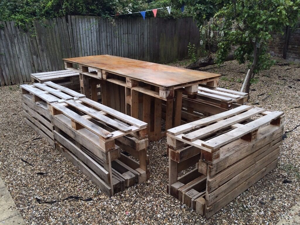 crate outdoor furniture. Large Pallet Crate Garden Furniture Set (great For Beer Pong!) Outdoor