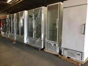 Single , double and triple door glass  fridge and freezers ! Just in  ! 99% new ! Liquidation price , made in USA !!