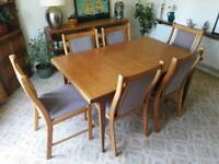 Retro Vintage Danish Teak Extendable Dining Table & 6 Farstrup Chairs Free Delivery Near Stroud Area