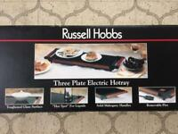 RUSSELL HOBBS 3-Plate Electric Hotray. BRAND NEW in Box
