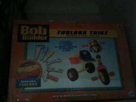 Brand new Bob the bulider tool box trike
