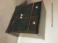 Hand decorated 2 door 2 drawer sideboard