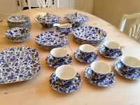 Burleigh 'Arden' Blue and White China / Tableware / Crockery
