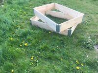 Garden planters pallet collars