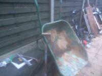 Heavy duty builders wheel barrow plus shovel