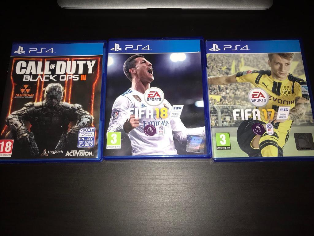 Ps4 Games 17 Ads Buy Sell Used Find Right Price Here Sony Game Fifa 18call Of Duty Black Ops 3in Canton Cardiff Hardly Ever