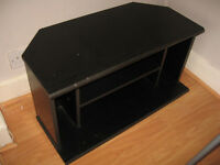 Black wood tv unit