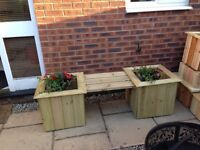 Double planter and bench , free delivery